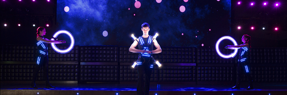 LED Poi show - Zebra Poi - Glowballz WEB2018 RS