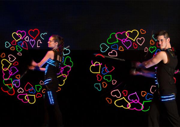 VisualPoi Show - Huwelijksshow - Glowballz WEB2018